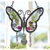 Amazon Price History for:Grandma Butterfly Suncatcher with Pressed Flower Wings Embedded in Glass with Metal Trim - Grandma Heart Charm - Gifts for Grandma - Grandma Gifts