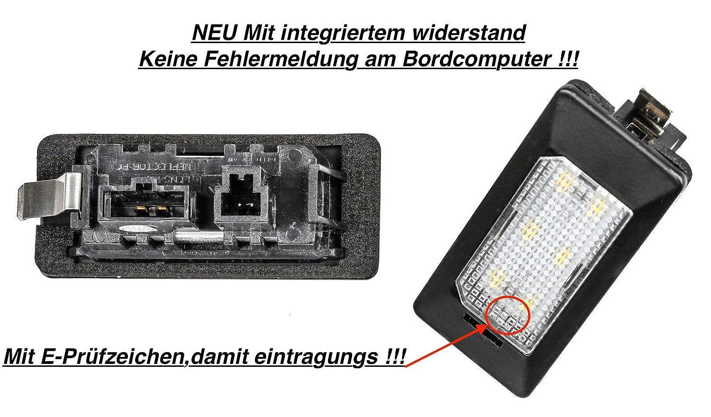2 luces LED SMD para matr/ícula ADPN color blanco