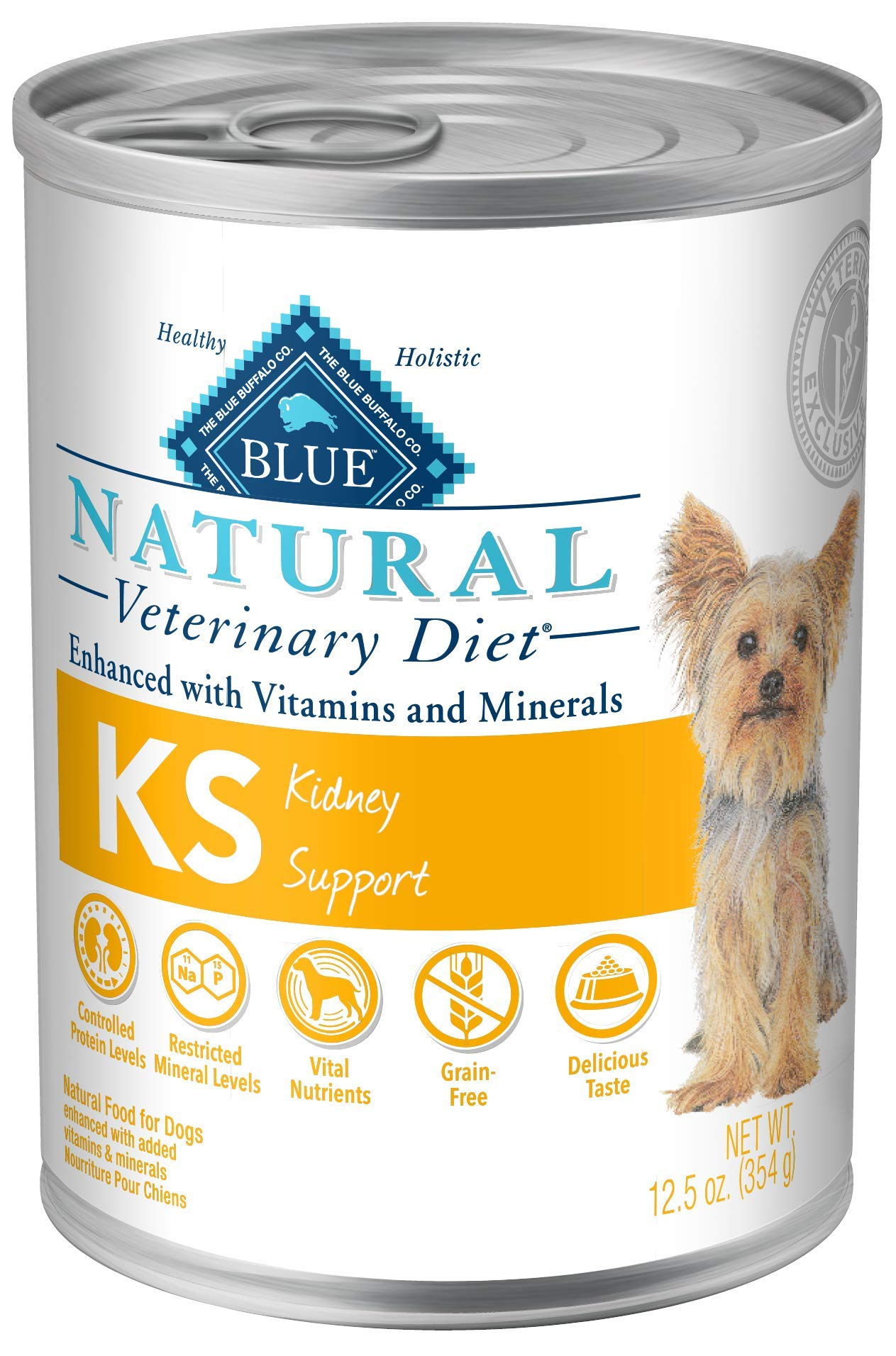Kidney Support for Dogs 12.5oz, Pack of 12 by Blue Buffalo Natural Veterinary Diet