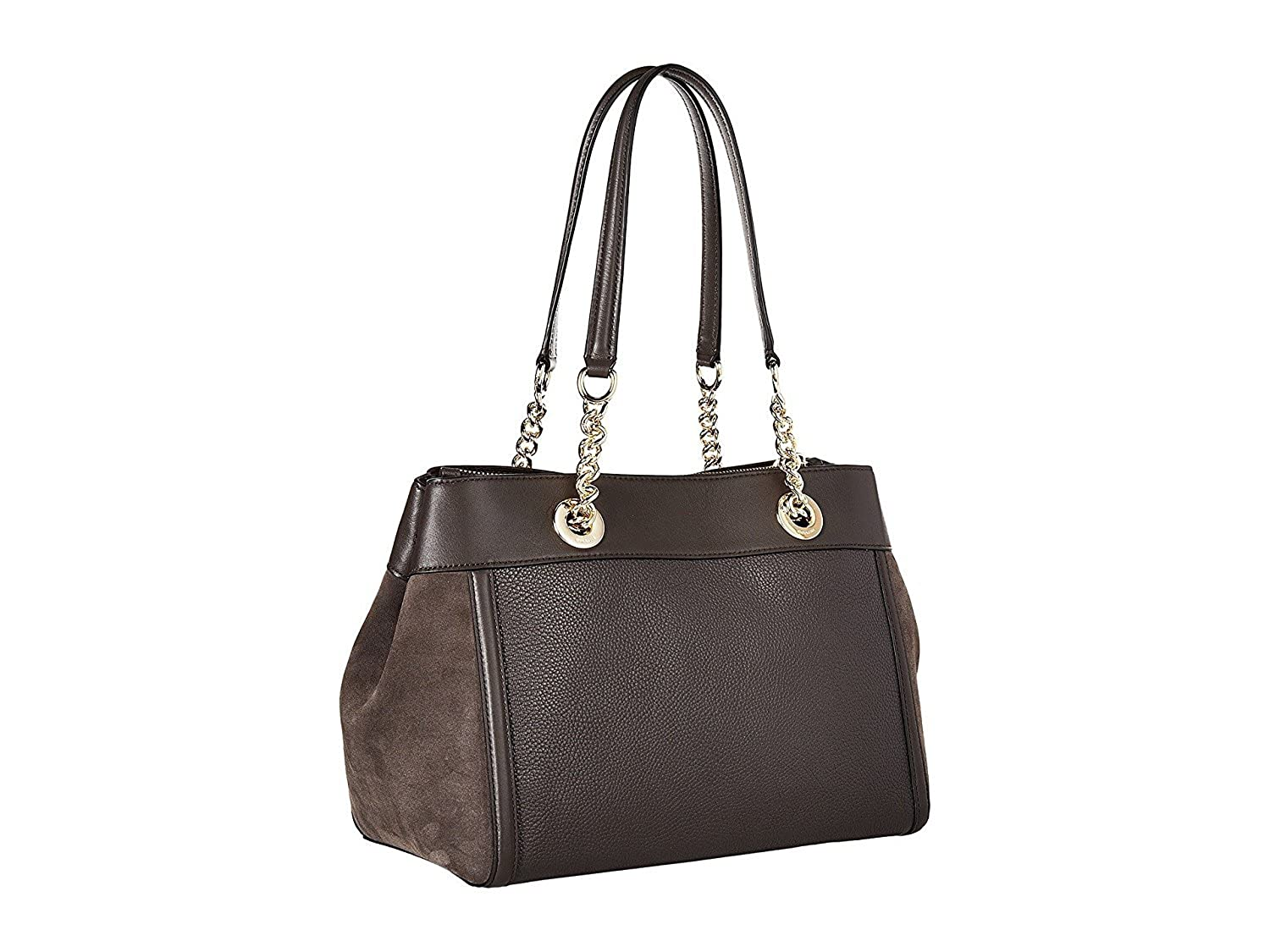 88b5cb1153fd COACH Women s Mixed Leather Turnlock Chain Edie Li Chestnut One Size   Amazon.co.uk  Shoes   Bags