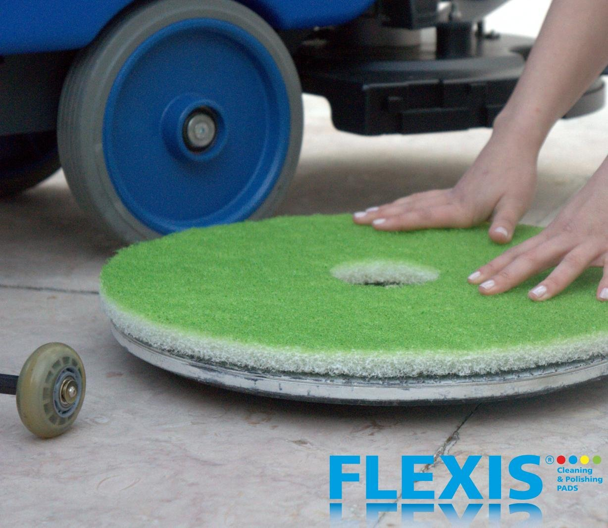 FLEXIS KGS Floor Cleaning & polishing Pads 17 inch, grit 3000 - Green (2 Pack) by KGS (Image #4)