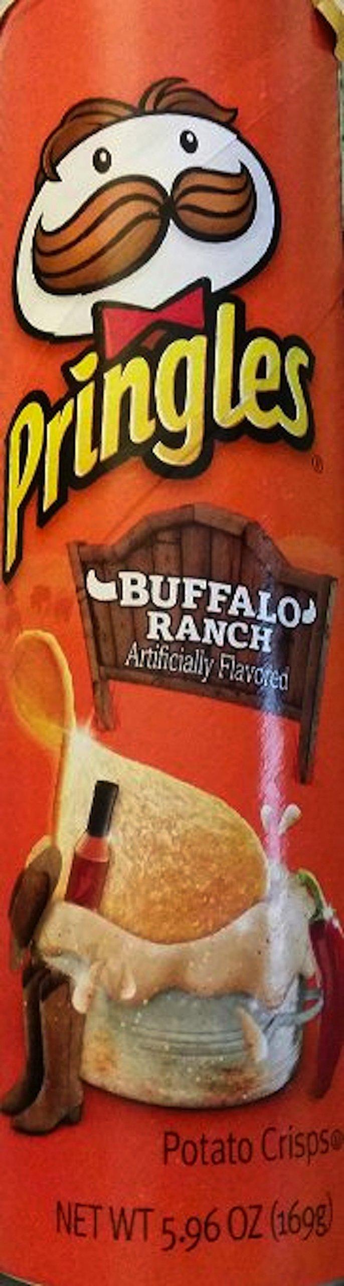 Pringles Buffalo Ranch Dip Potato Crisps, 5.96 oz