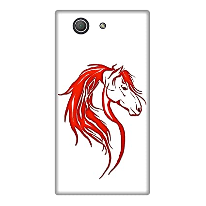Carcasa Sony Xperia Z3 Compact - Cabeza caballo Tribal rojo ...