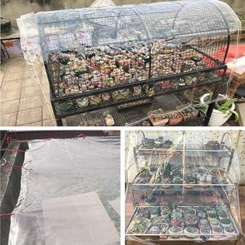 BAIYING Lona De Protección Casa Transparente A Prueba De Polvo De Doble Cara Jardinería Antióxido Hebilla De Metal Tela Impermeable De PVC, 18 Tallas (Color : Claro, Size : 1x1m): Amazon.es: Hogar