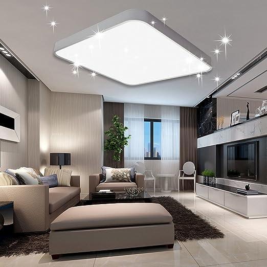 60W LED Deckenleuchte Deckenlampe Wohnzimmerlampe Küche Warmweiß Sternenhimmel