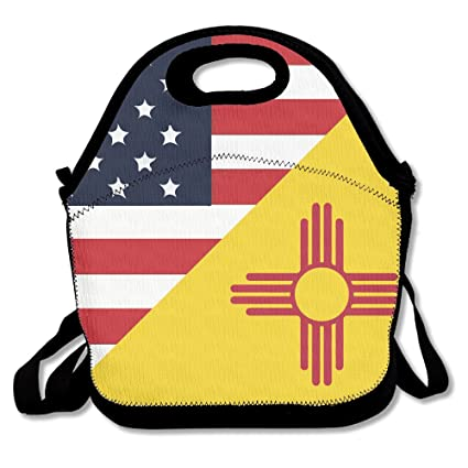 c11cafd478ad Amazon.com: Best4UZ USA New Mexico State Flag American Lunch Box ...