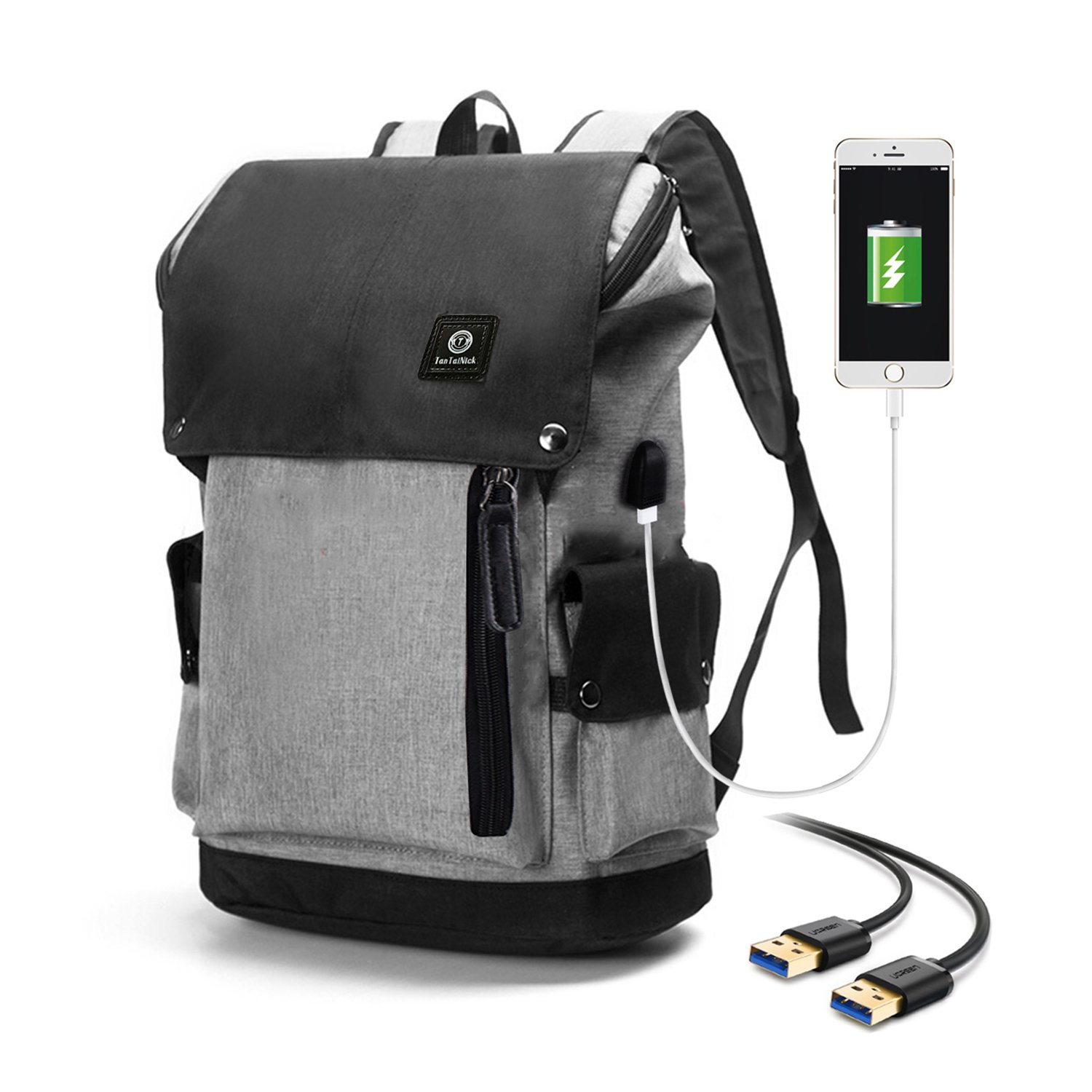 f6d8eaff63ec The backpack screams business and connectedness when you catch a glimpse of  it. It comes with a USB port connecting your power bank inside and phone or  ...