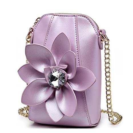 Eleoption Girls Wallet Coin Purse Super Cute With 3D Flower Crossbody  Handbag Pu Leather Small Messenger 74df4df2be