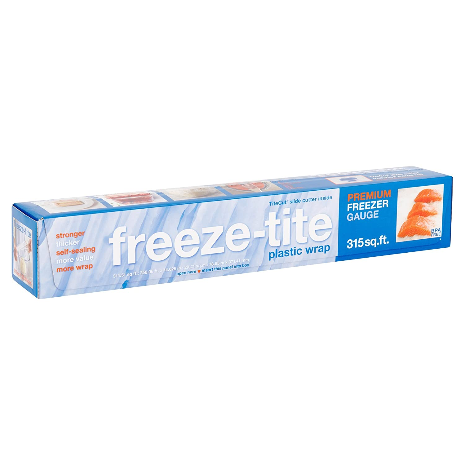"Freeze-Tite Premium Plastic Freezer Wrap-15"" x 250 ft."