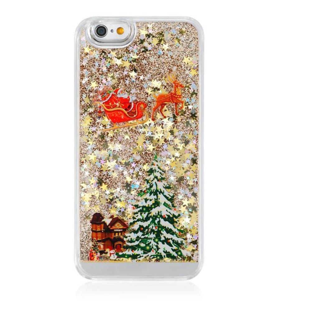 Amazon.com: Christmas iphone 6 Plus/6 Plus S case 3D Quicksand ...