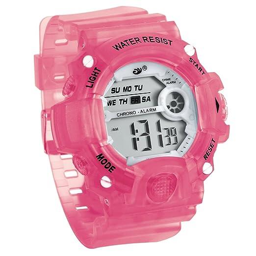 JewelryWe Relojes para Niños Niñas Reloj Deportivo Digital Para Aire Libre Reloj Infantil Rosa, 3ATM A Prueba de Agua Buen Regalo: Amazon.es: Relojes
