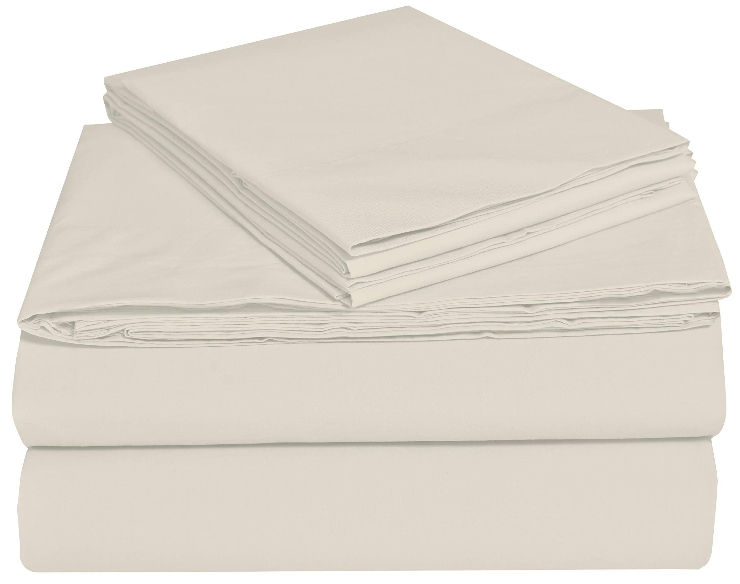 EnvioHome GOTS Certified Organic Cotton Sheet Set - 4 Pc - Natural, King