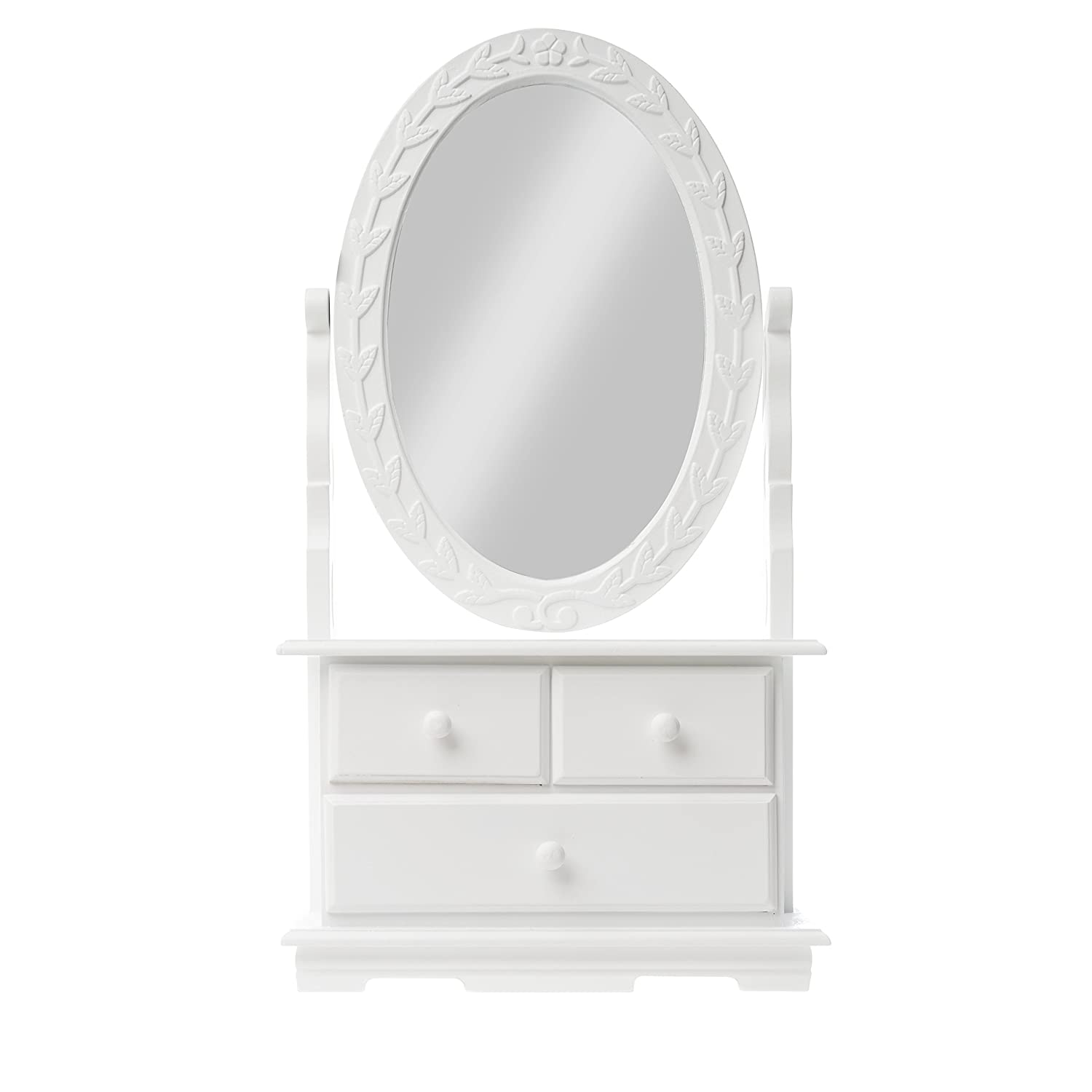 Dressing table Mirror Dressing table white antique Wood dressing table Rosali elbmoebel
