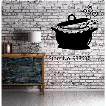 Wsxwga Cocina Restaurante Decoración Ollas Y Sartenes Cocina Caldera Cocina Etiqueta De La Pared Vinilo Calcomanía