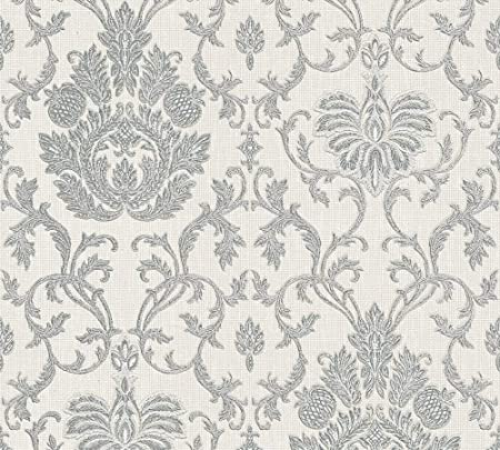As Création Wallpaper Belle Epoque 1005 M X 053 M Gray Metallic