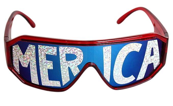 Amazon.com: rasslor Merica Escudo anteojos de sol: Clothing