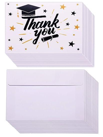 36 juegos de tarjetas de agradecimiento de graduación ...