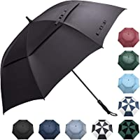 Prospo Golf Umbrella 62/68 Inch Oversized - Large Auto-Open Stick Vented Umbrella Double Canopy Windproof for Men Women
