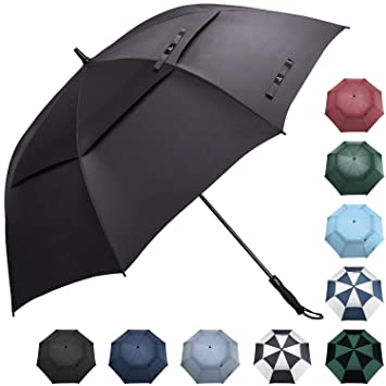 1a9f63c042d6 Prospo 62/68 Inch Oversized Auto-Open Golf Umbrella Snow Double Canopy  Vented Large Umbrella Windproof Waterproof Stick Umbrellas