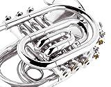 EastRock Pocket Trumpet Brass Nickel Plated Bb