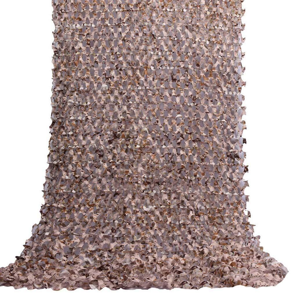 迷彩ネット耐紫外線シェード日焼け止めネット釣り屋根キャリッジ小屋植物カバー迷彩ネットジャングルカバーネットキャンプ隠す隠す狩猟軍事射撃 ZHAOFENGMING (Color : 褐色, Size : 4 x 8m) 褐色 4 x 8m