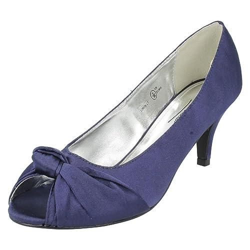 Zapatos Anne De Michelle Azul Marino Color Vestir Para Mujer R1O1Uw