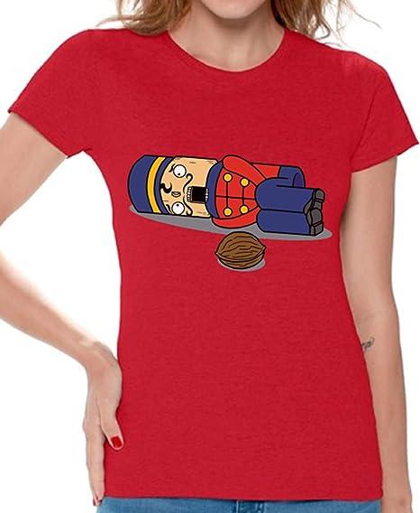 40e4c7c143 Awkward Styles Nutcracker Shirt for Women Ugly Xmas Tshirt Funny Christmas  Shirt Red S