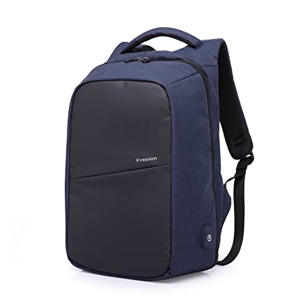Fresion Mens Business Laptop Backpack Water-resistant Back Pack Lightweight  Casual Daypack with USB Charging f5bcb50db6c4f