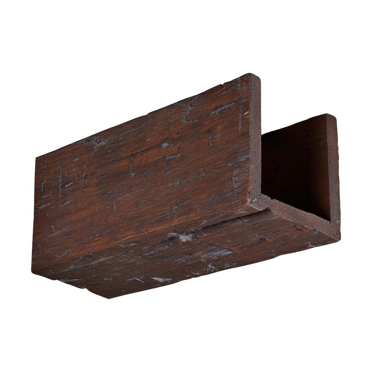 Ekena Millwork BMHHBC-SAMPLE Faux Wood Beams, 6'' x 6'' x 12'', Black Cherry