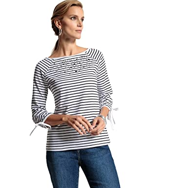 La Redoute Womens Embellished Breton T-Shirt at Amazon Women s Clothing  store  d97304146100