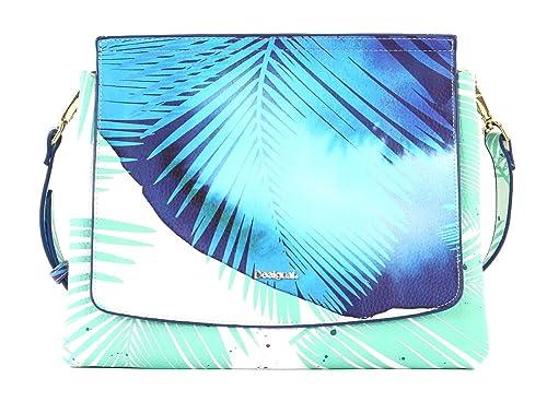 e89206557 Desigual Blue Palms Amberes Turquoise Women's Shoulder Bag: Amazon.co.uk:  Shoes & Bags