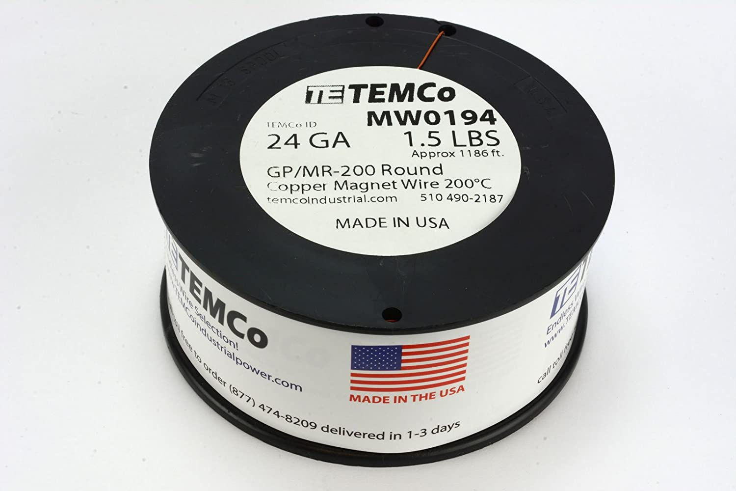 Temco 24 Awg Copper Magnet Wire - WIRE Center •