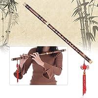 Mainstayae Pluggable Bitter Bamboo Flute Dizi Traditional Handmade Chinese Musical Woodwind Instrument Key of C Study Level Professional Performance