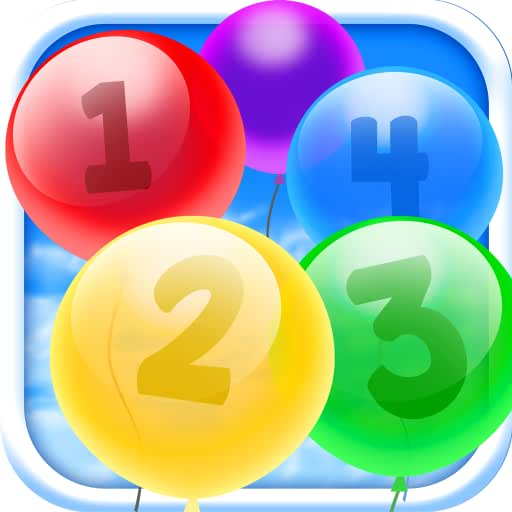 Count Balloons by Numbers 123 Learning Exercise for toddler kids, infant to preschool