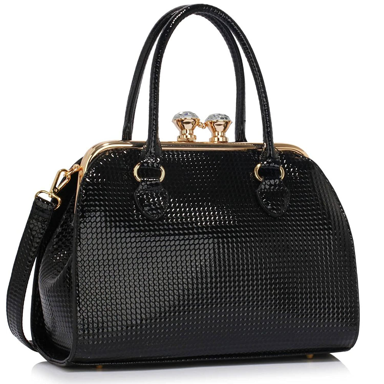 New Womens Designer Bags Ladies Fashion Handbags Tote Patent ...