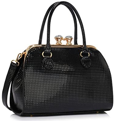 Ladies Handbags Womens Designer Bags Celebrity Faux Leather Patent ...