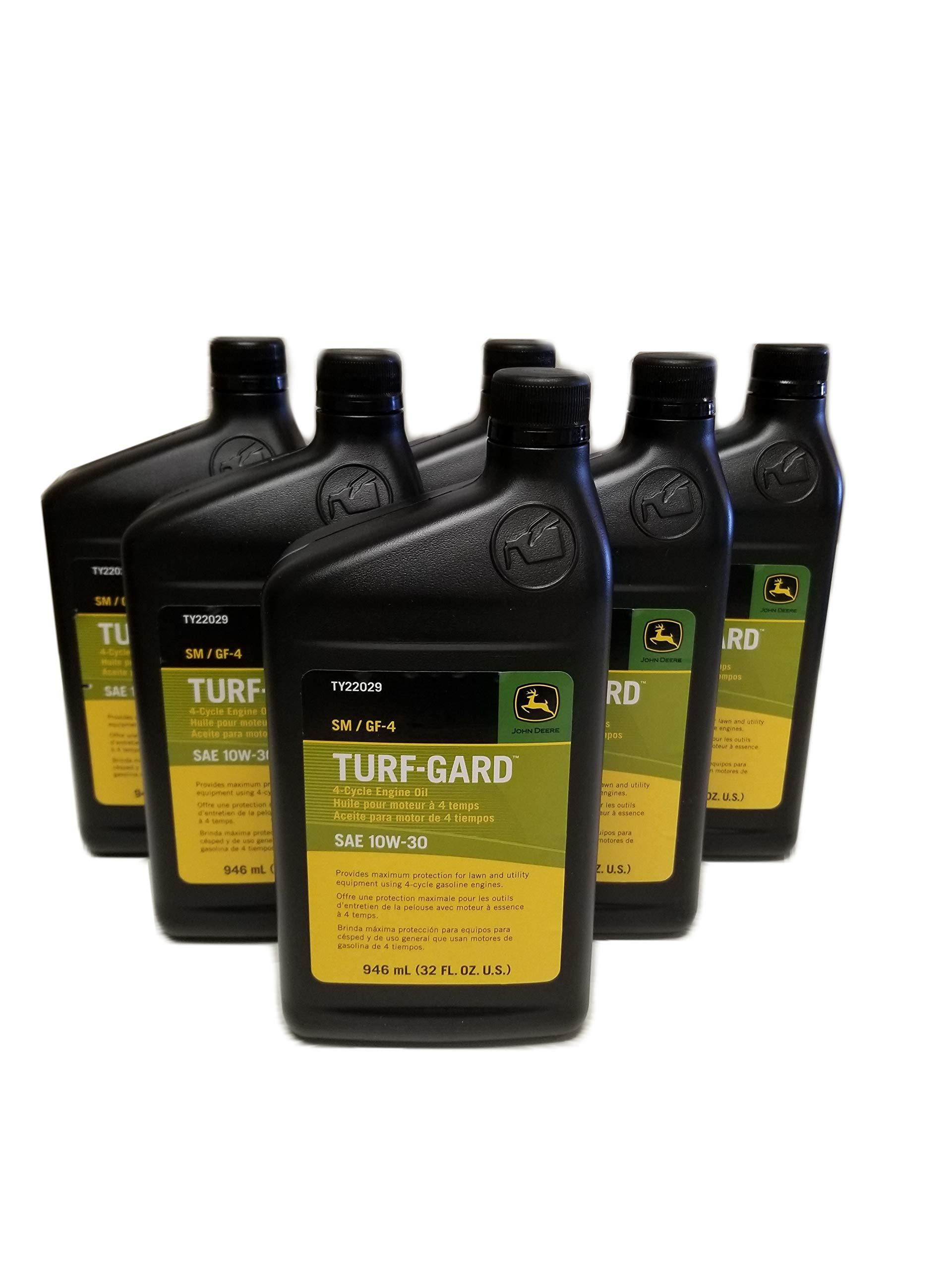 John Deere Turf-Gard SAE 10W-30 Oil Quarts - TY22029 (Qty of 6)