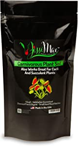 Organic Cactus and Succulent Soil – Small Batch Hand-Mixed Potting Soil for Indoor Plants – pH Balanced for Carnivorous Plants Including Venus Fly Trap, Pitcher Plant and Sundews (4 Quarts)