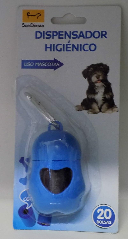 Dispensador bolsas higiénicas SAN DIMAS con mosqueton de enganche: Amazon.es: Hogar
