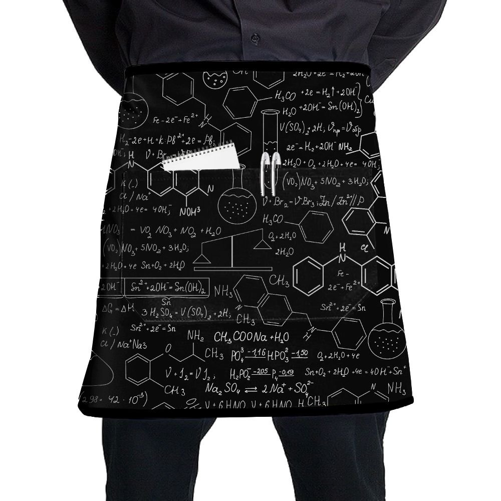Jgiurhguij Why I Love Chemistry Restaurant Cooking Kitchen Half Body Waist Aprons Sewing Pocket Apron