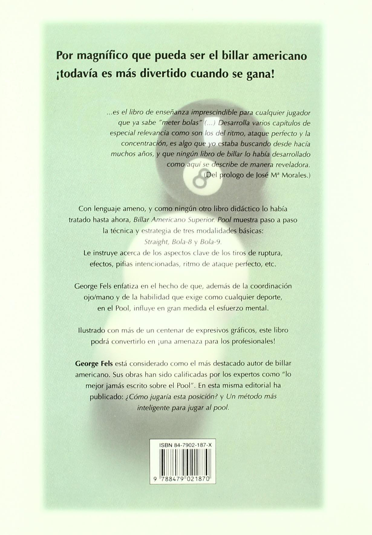Pool - Billar Américano Superior: Amazon.es: Feels, George: Libros