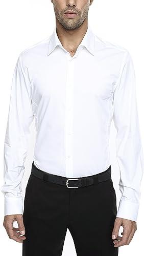 Caramelo, Camisa Vestir CRO Slim Cuello Ingles, Hombre · Blanco Optico, Talla 50: Amazon.es: Ropa y accesorios