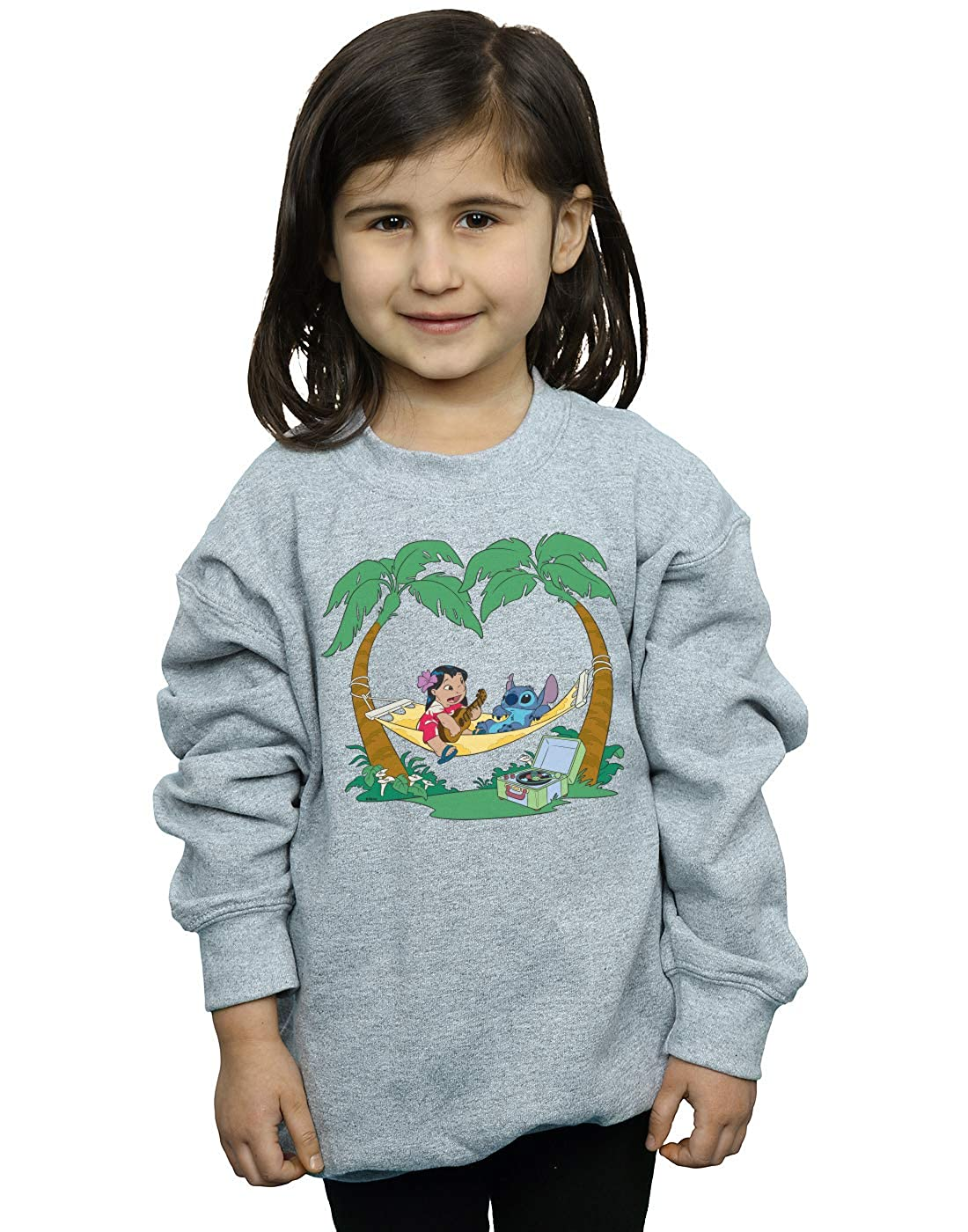 Disney Girls Lilo /& Stitch Play Some Music Sweatshirt