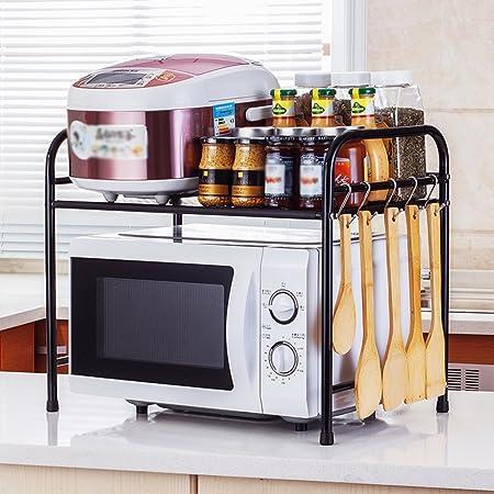 WENZHE Estante De Cocina Microondas Rejilla Del Horno Botellas De Condimento Olla Arrocera Platos Organizador Piso De Pie Multifunci/ón 8 Colores 53x40x47CM