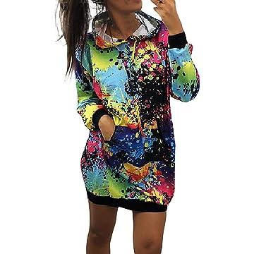 Detailorpin Women Winter Soft Fleece Hooded Sweatshirt Printed Casual Hoodies