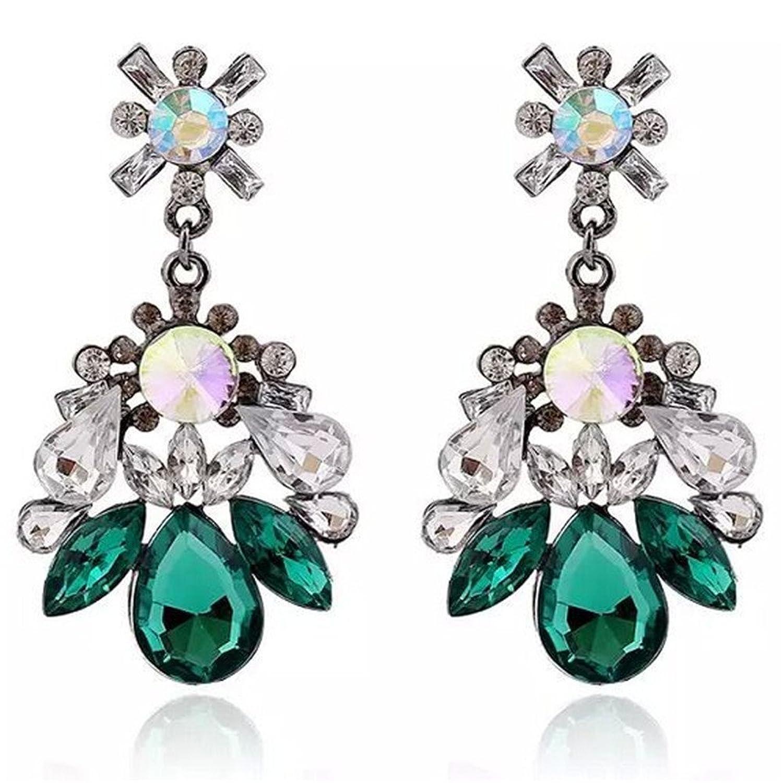 Dana Carrie Oído que Europa, los Estados Unidos, con estilo retro Elegantes aretes de cristal hermosa caída de agua de orejas