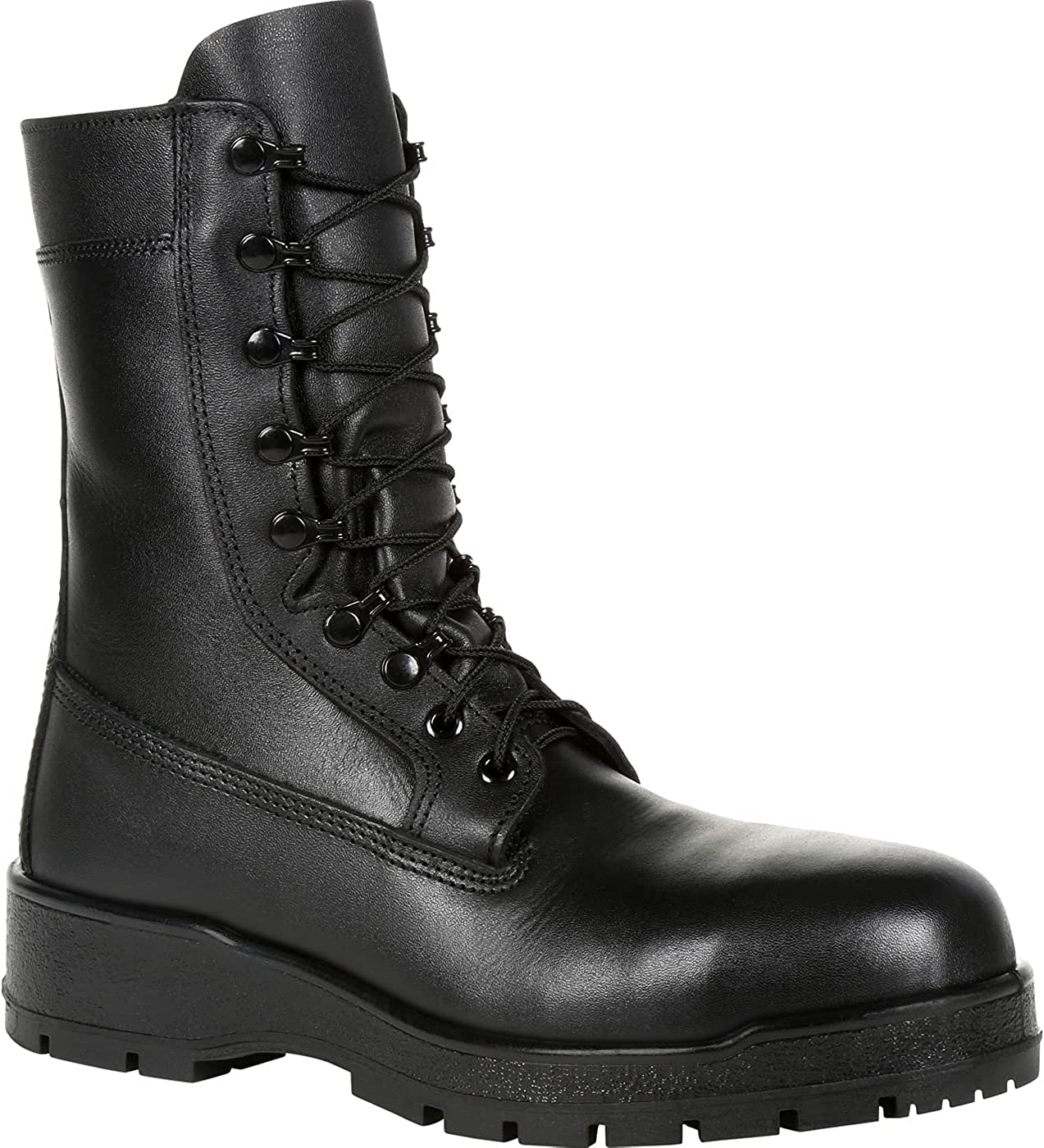 "Rocky Women's Navy Inspired 9"" Steel Toe Boot Size 7.5(NA)"