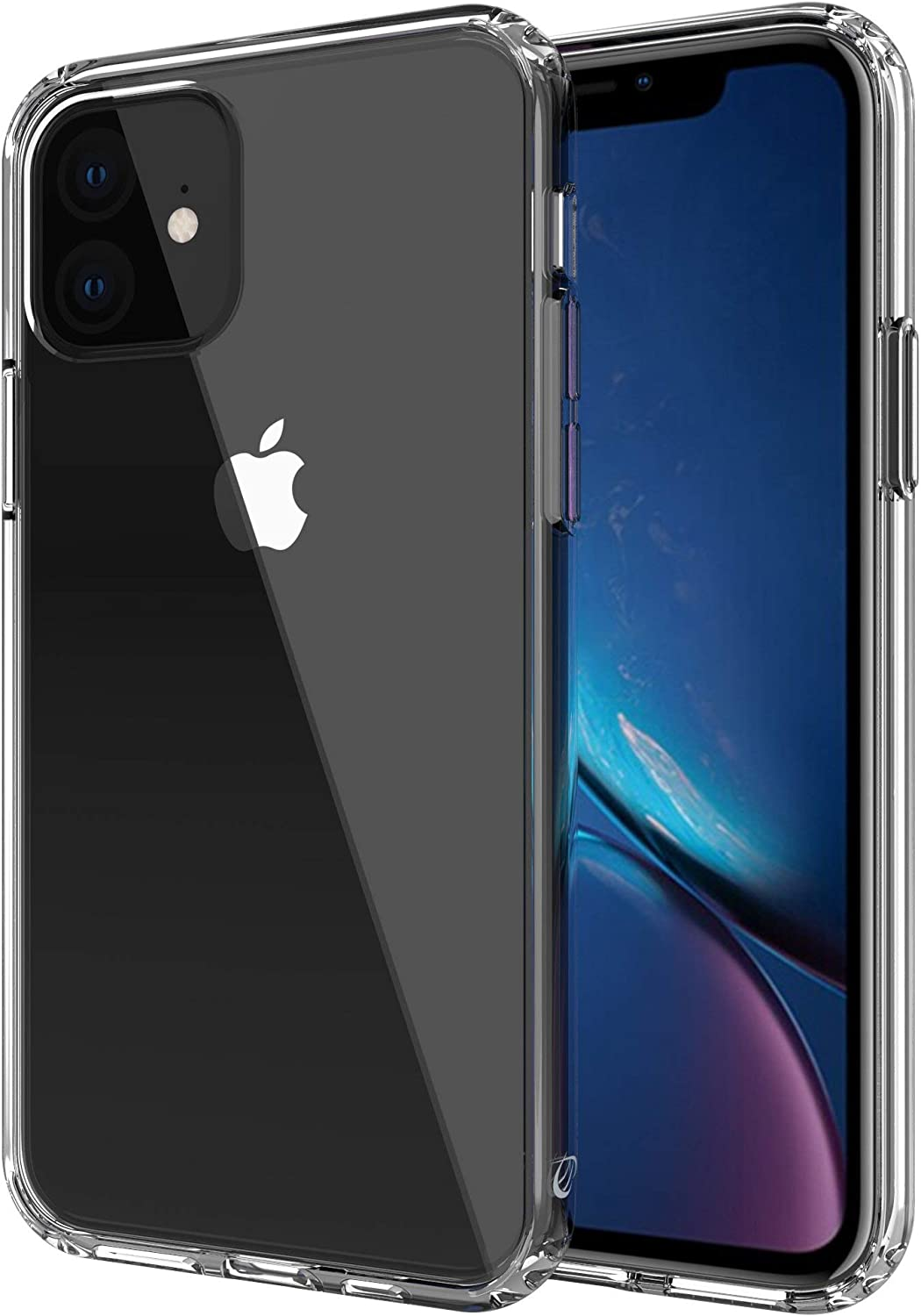 Luvvitt Clear View Case Designed for iPhone 11 with Shockproof Drop Protection Slim Soft Hybrid TPU Gel Bumper and Hard PC Scratch Resistant Back for Apple iPhone 11 XI 2019 6.1 - Crystal Clear