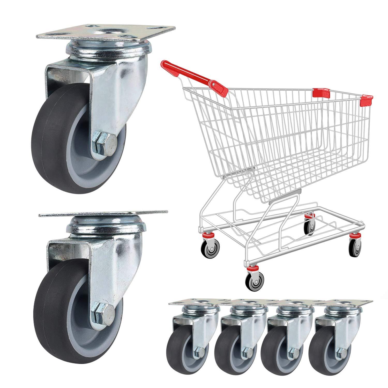12 x Ruedas /Ø 50 mm, 50 kg por rollo YAOBLUESEA Ruedas de Transporte de transporte Ruedas cargas pesadas rollos de muebles