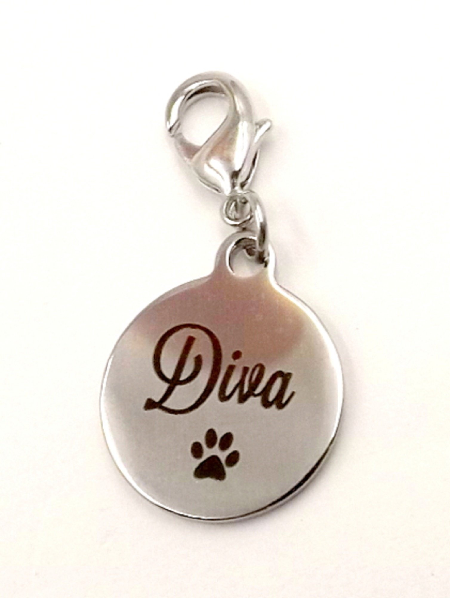 Charm for Pet Collar ''Diva'' Fur-baby Pet collection DogCat Canine Feline